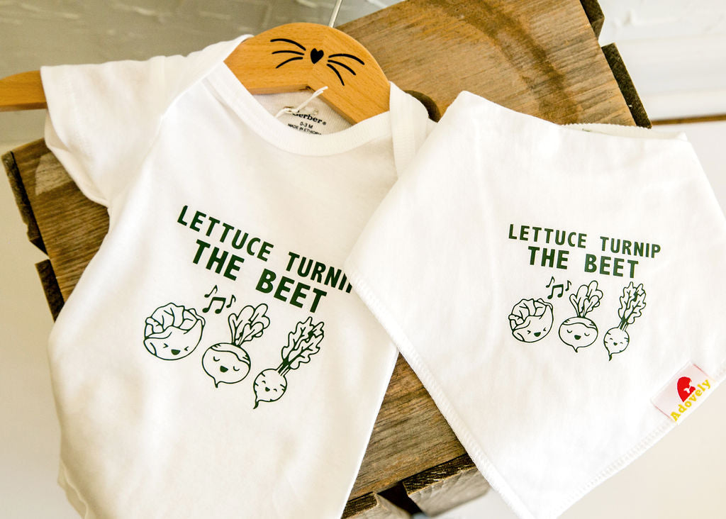 Lettuce Turnip the Beet Baby Onesie