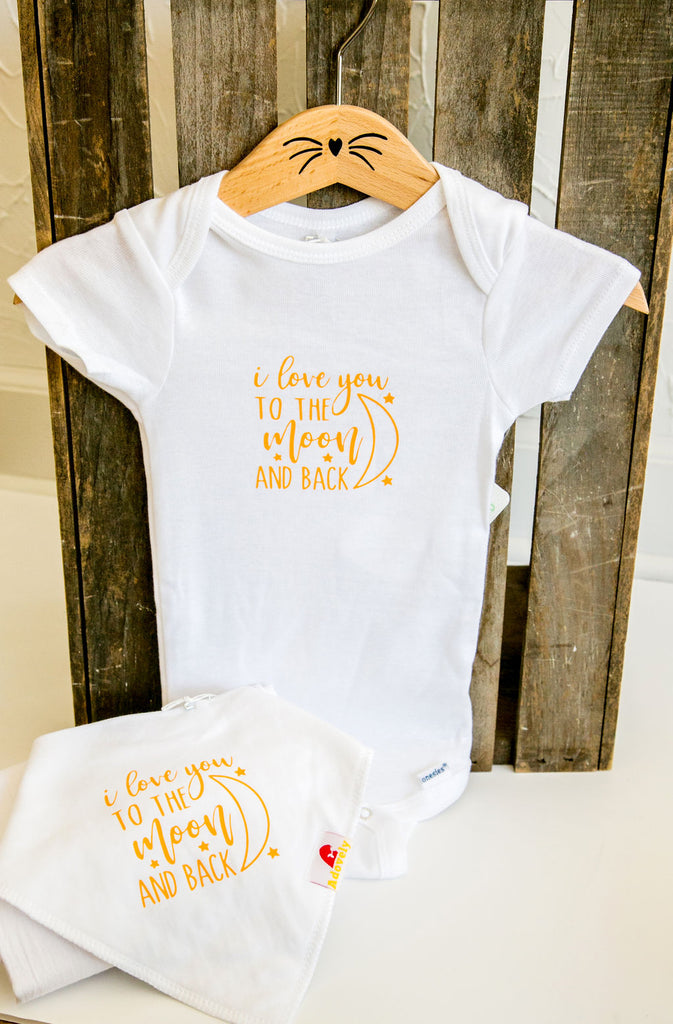 Moon and Back Baby Bib