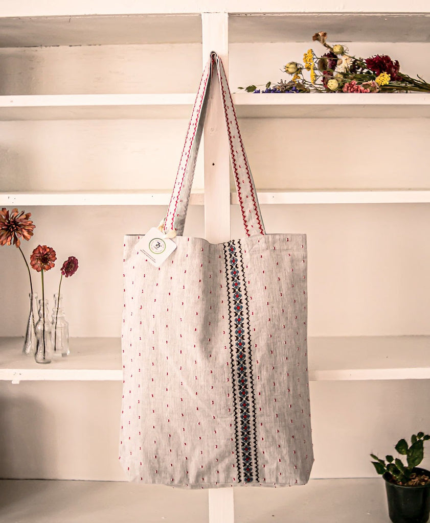 Embroidered Tote - Cotton Twill