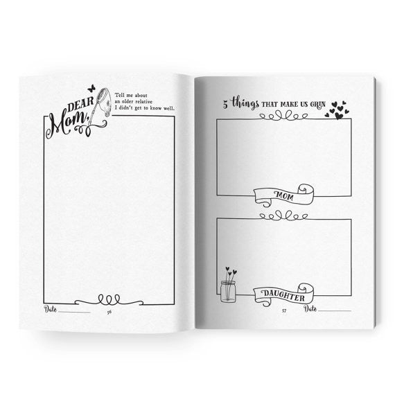 Love, Mom and Me - Mother/Daughter Journal - Mimosa Goods - 3
