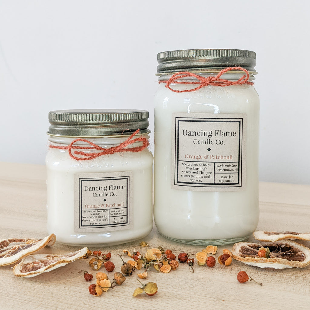 Dancing Flame Candle Co. - Orange & Patchouli