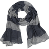 Cotton Voile Scarf by Graymarket - Raya Stripes Navy - Mimosa Goods - 3