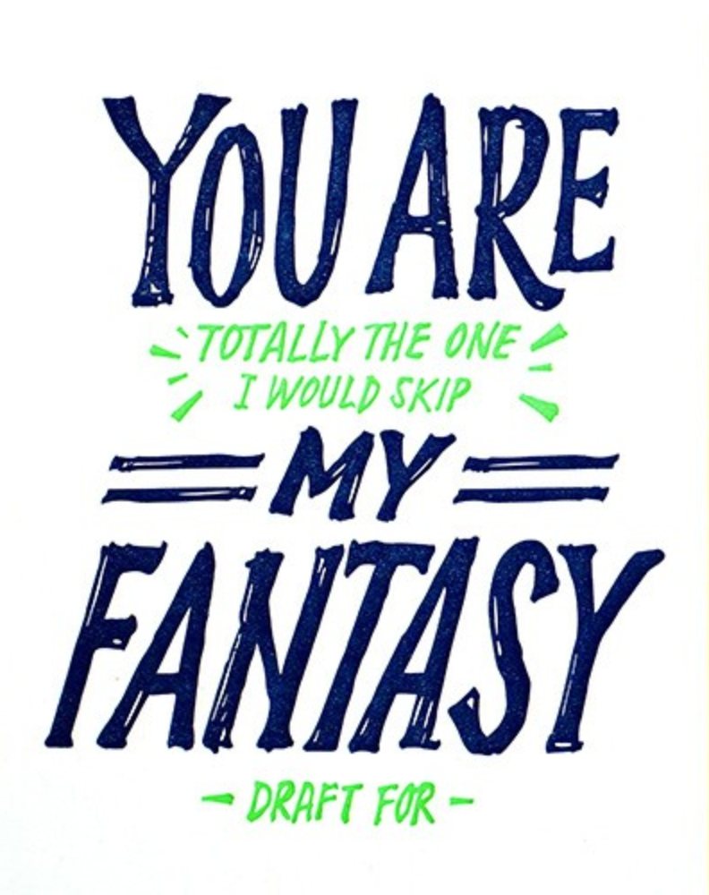 Fantasy Draft Love - Good Paper Greeting Cards