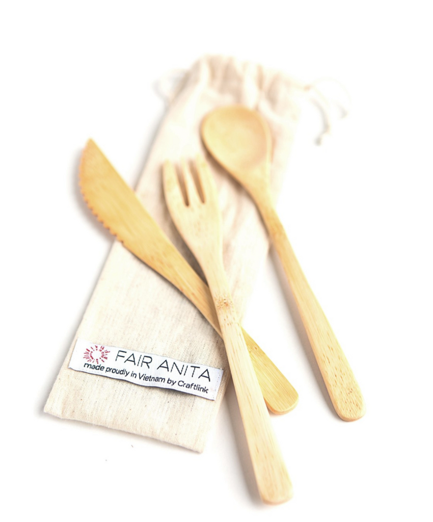 Bamboo Reusable Utensil Set
