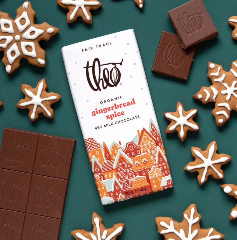 Theo Chocolate Gingerbread Spice 45% Milk
