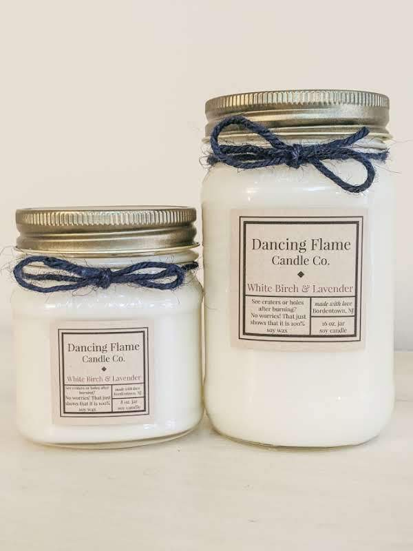 Dancing Flame Candle Co. - White Birch & Lavender