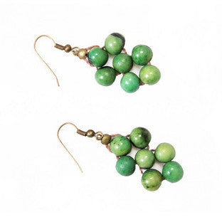 Acai Seed Earrings | Green - Mimosa Goods - 1