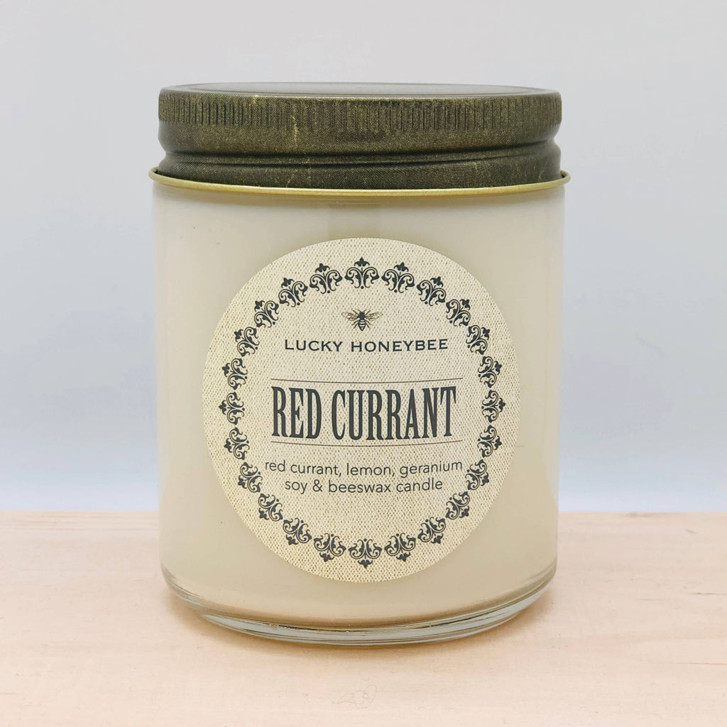 The Lucky Honeybee - Red Currant Candle Jar