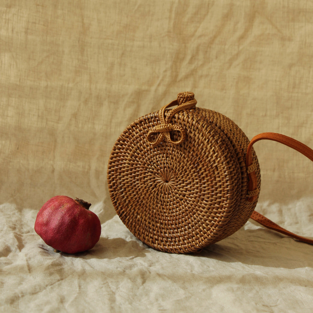 Small Atta Reina Crossbody Rattan Bag
