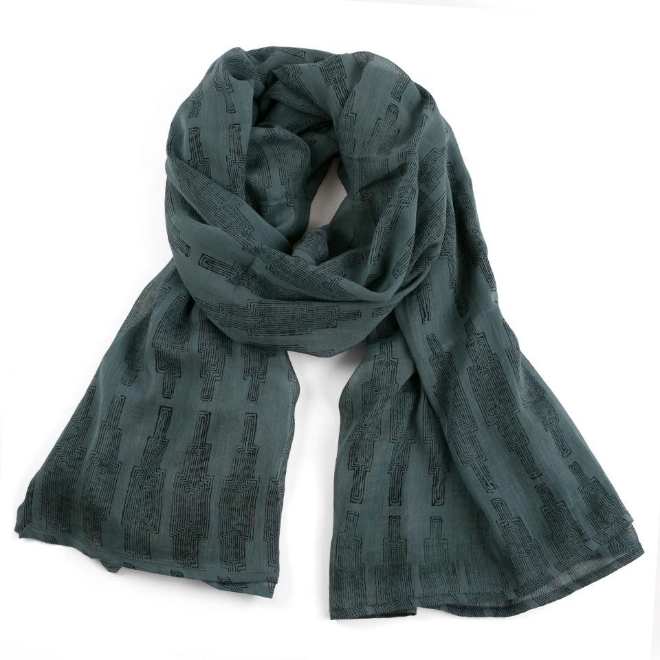 Cotton Voile Scarf by Graymarket - Cali Bay Print