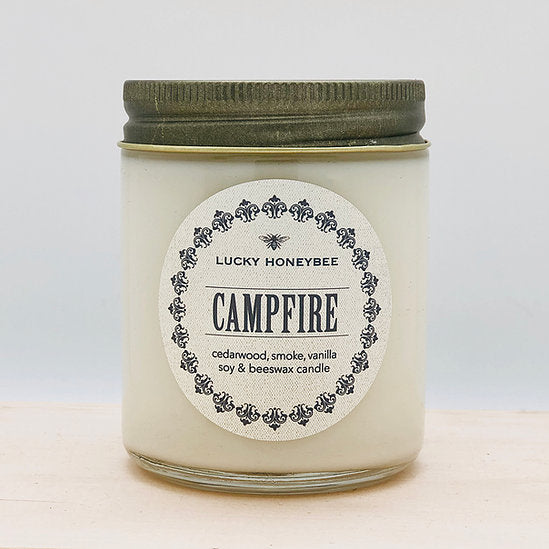 Lucky Honey Bee - Campfire Candle Jar