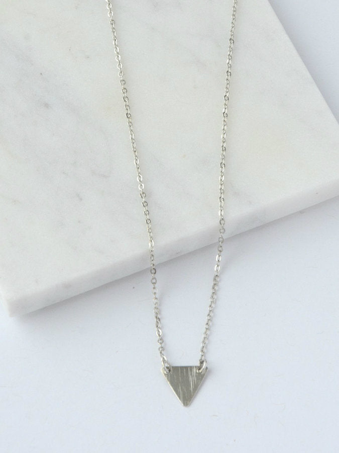 Clarity Triangle Necklace in Silver