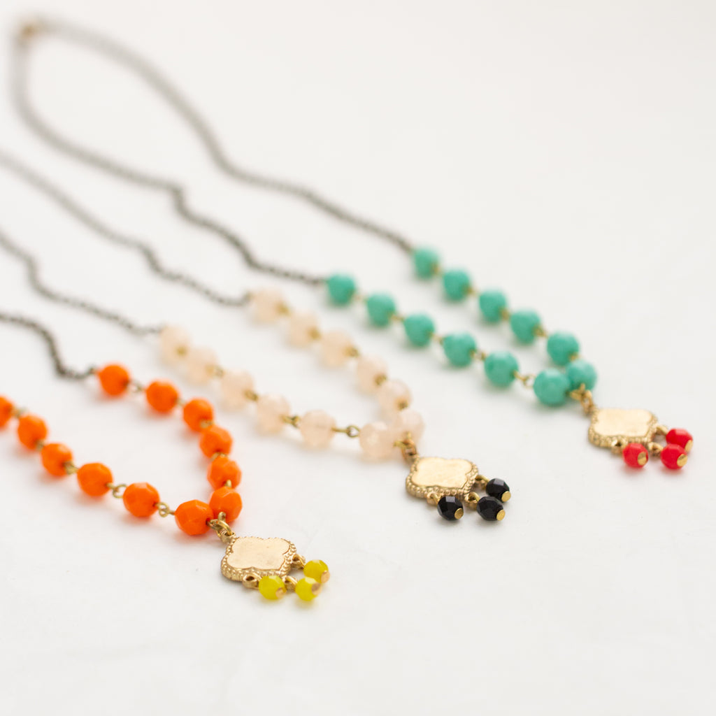 Colorful Bead Chain Necklace