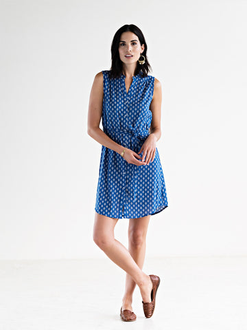 Natalia Shirt Dress Blue