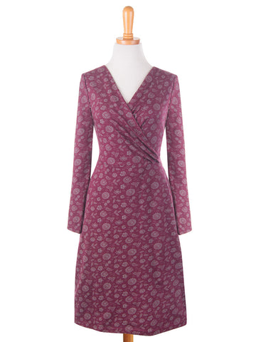 Peace Lily Dress Maroon - Mimosa Goods - 1