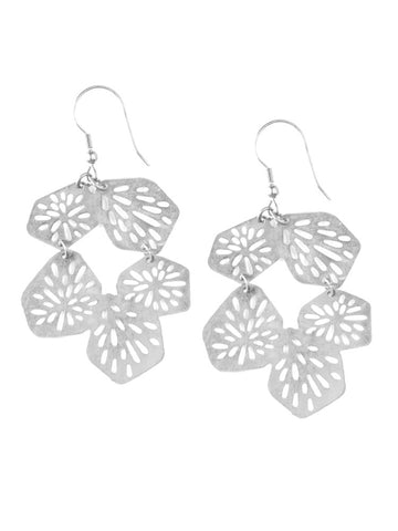Coral Reef Fair Trade Earrings - Silver - Mimosa Goods