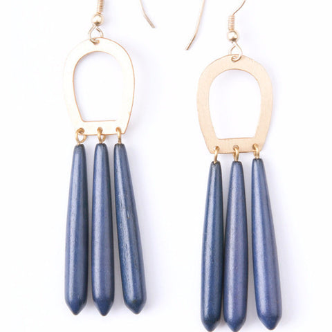 Empress Earrings Blue - Mimosa Goods