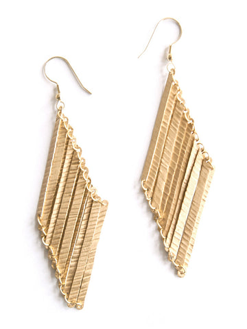 Layered Lines Earrings - Mimosa Goods