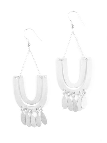 Mantra Earrings Silver