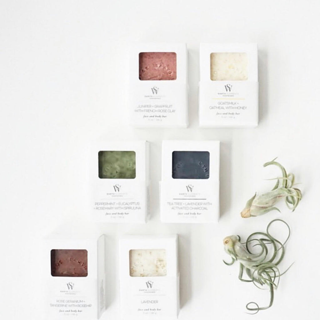 Peppermint, Eucalyptus, Rosemary + Spirulina - Face & Body Bar Soap