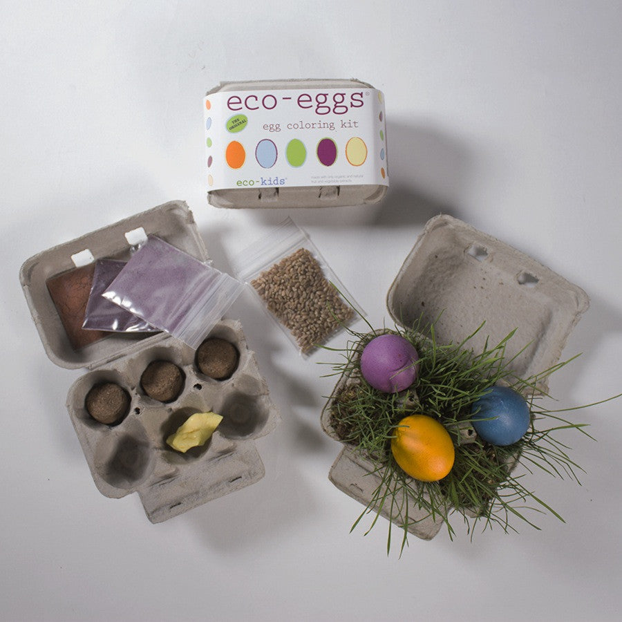 eco-eggs coloring and grass growing kit - Mimosa Goods - 2