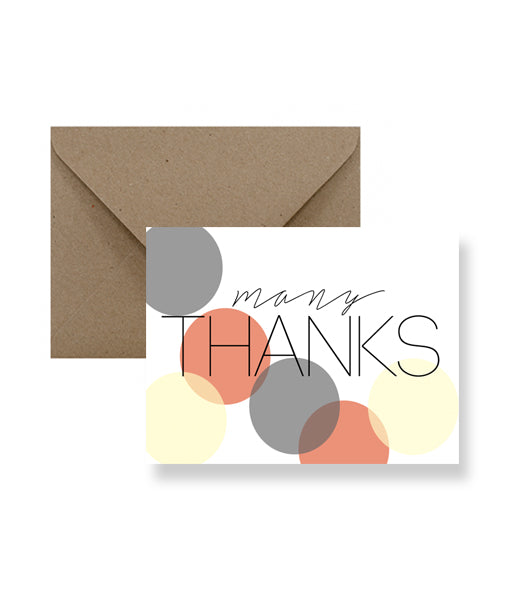 ImPaper - Many Thanks Greeting Card