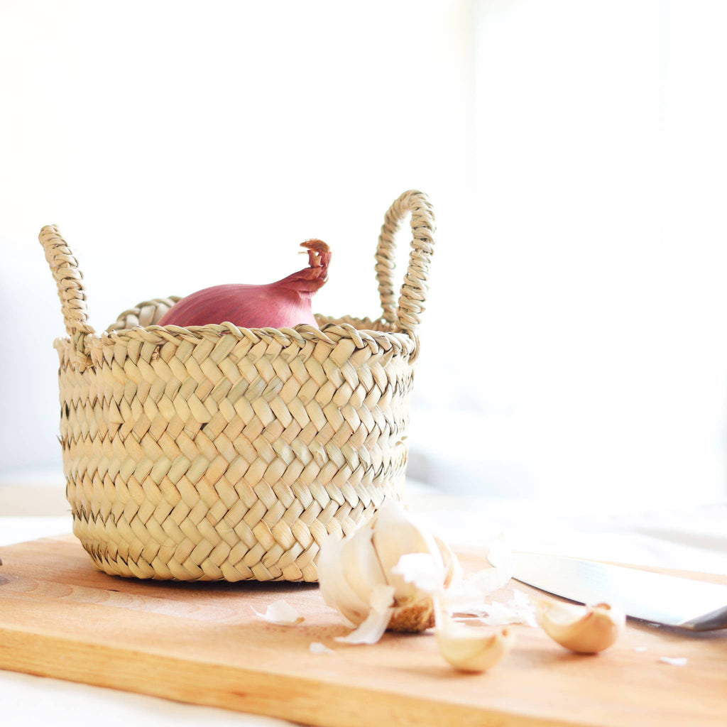 Tiny Beldi Straw Basket