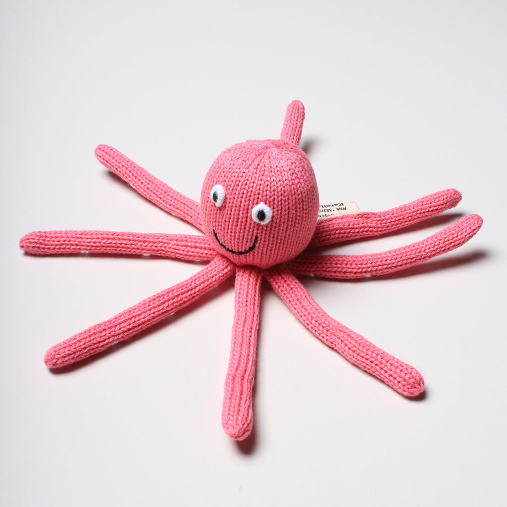 Estella - Baby Rattle Toy - Octopus Rattle (Pink)