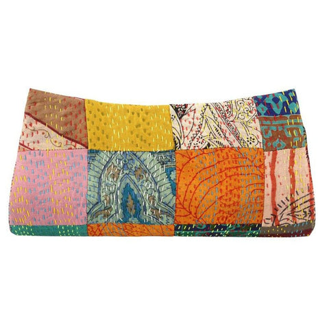 Heirloom Silk Sari Clutch - Mimosa Goods