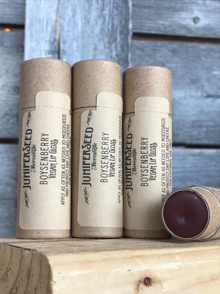 Zero Waste Vegan Lip Gloss/Balm - Boysenberry