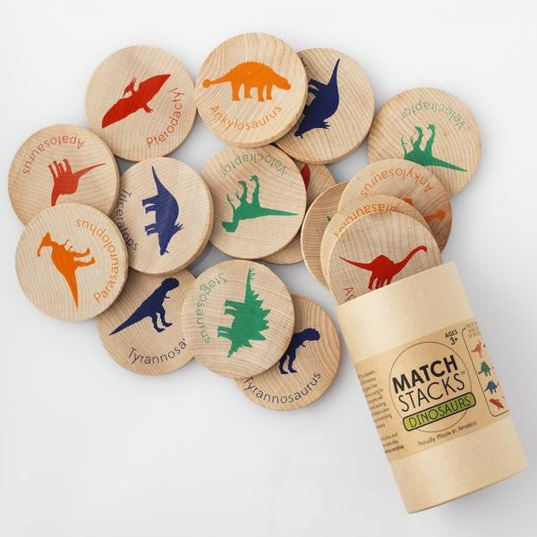 Match Stacks Dinosaurs - Mimosa Goods - 3