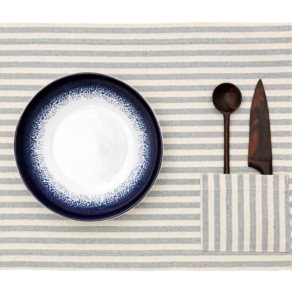 MEEMA - Placemats with Pocket / Striped : Set of 4