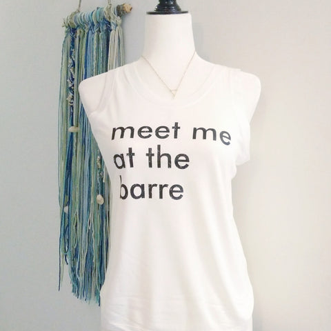 Meet me at the barre eco muscle tank