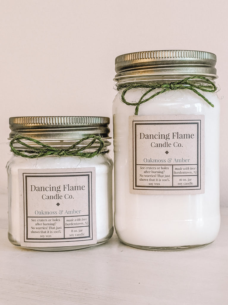 Dancing Flame Candle Co. - Oak Moss and Amber