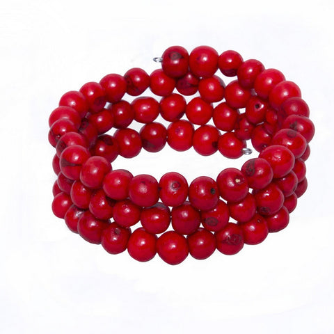 Acai Seed Bracelet | Red - Mimosa Goods