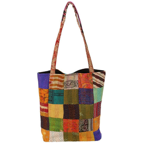 Heirloom Silk Sari Tote Bag - Mimosa Goods