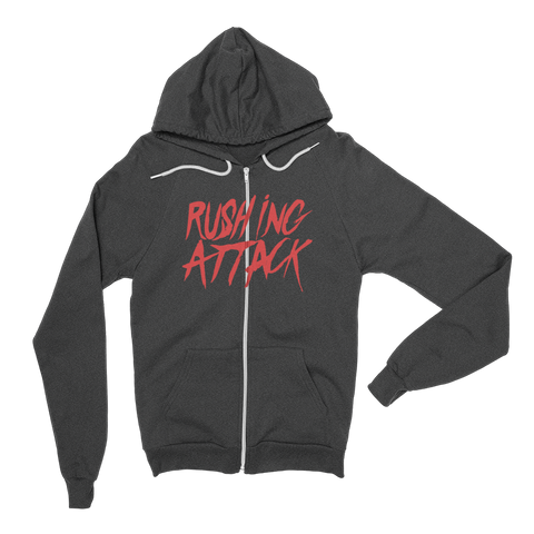 Rushing Attack - Red Print - Zip Up Hoodie