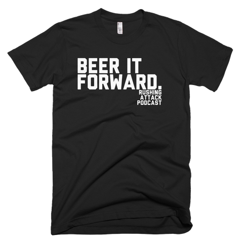 Beer It Forward - White Print - T-Shirt
