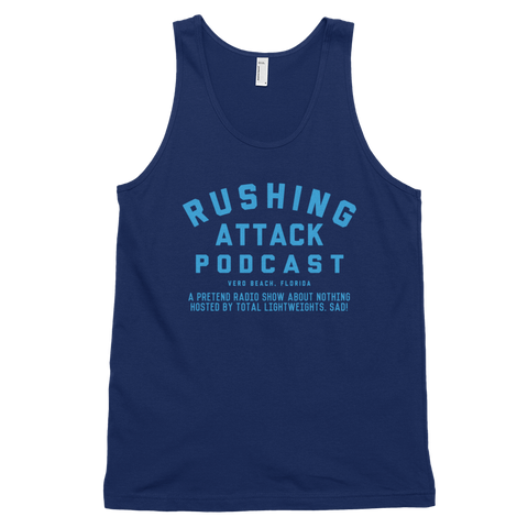 Rushing Attack Podcast - Baby Blue Print - Tank Top