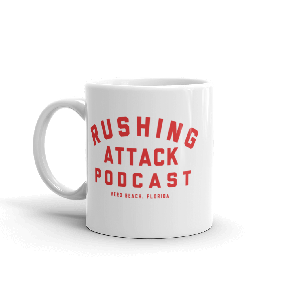 Rushing Attack Podcast - Pretend Radio Show Mug