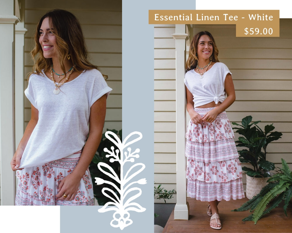 Facts about linen - bohemian clothing - plain linen tee