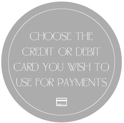 Choose your credit card