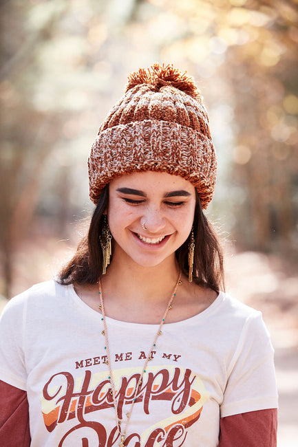 Badger Beanie - Tan