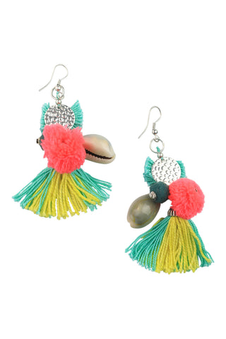 Cowrie Tassel Earrings