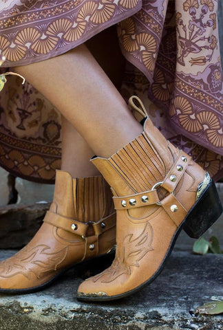 Leather Phoenix Boots - Tan