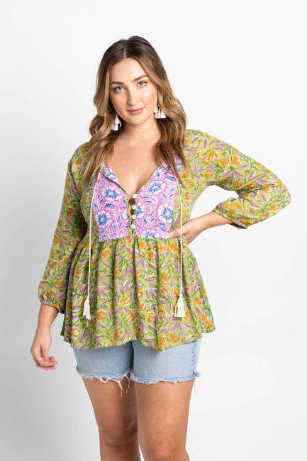 Tamila Top - Lime Blossom