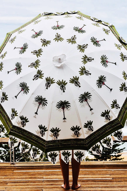 Green Palm Tree Patio Umbrella