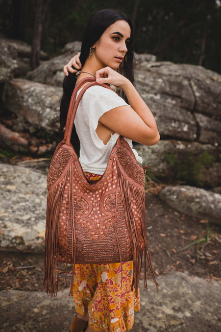 Maple Leather Tote - Cognac