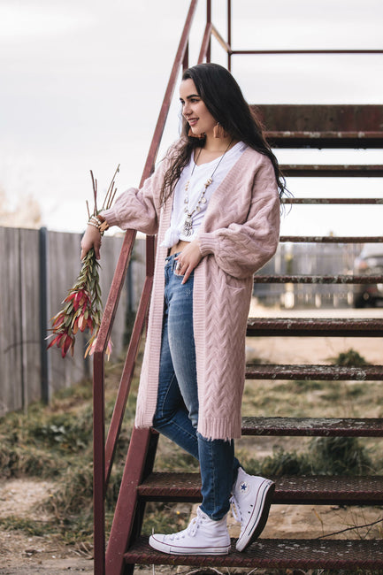 Lana Cardigan - Blush