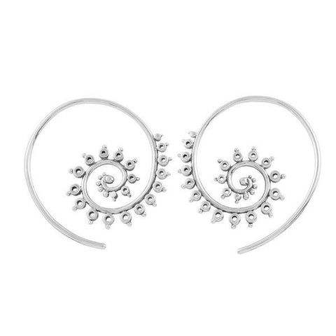E318 - Fractal Hoop Earrings